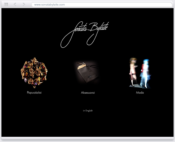 Site design and coding for fashion designer - by Cosmic Bees